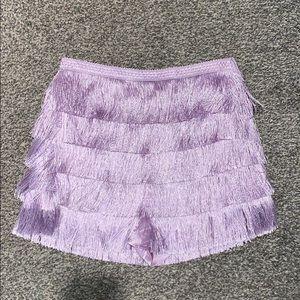 Purple fringe skort